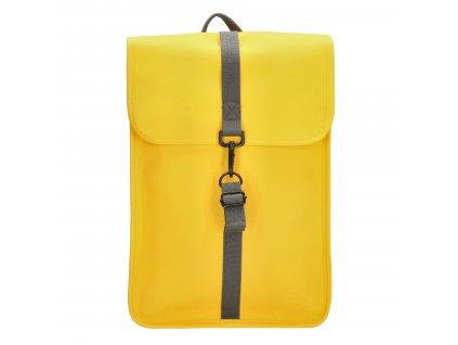 "Moderný unisex batoh Charm London Neville - 17,3 ""(43 cm) / 12L - žltý"
