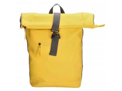 "Unisex batoh typu Messenger Charm London Neville - 17,3 ""(43 cm) / 16,7L - žltý"