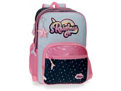 Školský dvojkomorový batoh Movom Rainbow 24,5L