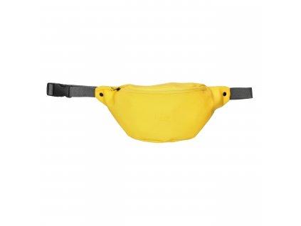 Dámska dizajnová ľadvinka z príjemného pogumovaného nepremokavého materiálu značky Charm London v žltom prevedení. Skombinujte si svoju vlastnú kolekciu Neville a buďte in.  Materiál: polyester  Rozmery: 25 cm x 16 cm x 7,5 cm  obsahuje:  dlhý, nataviteľný pás pre nosenie na pasu alebo krížom cez telo hlavné vrecko na zips zadné vrecko na zips