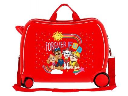 Detský kufor na kolieskach - odrážadlo - Labková patrola - Forever Fun