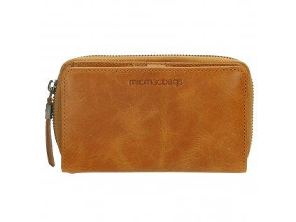 Dámska kožená peňaženka Micmacbags - okrová