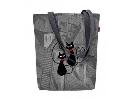 Designová taška na rameno Sunny - Mačky na streche