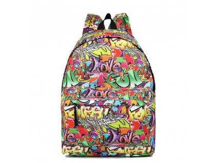 Štýlový školský batoh Graffiti