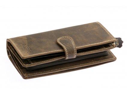Pánska veľká peňaženka - tmavo hnedá