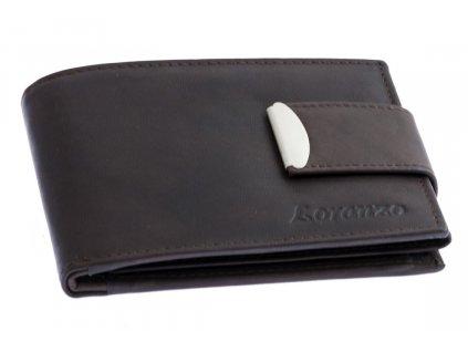 Pánska peňaženka s prackou - hnedá