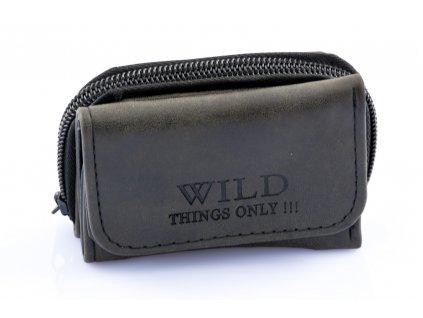 Pánska mini peňaženka Wild - hnedo-šedá