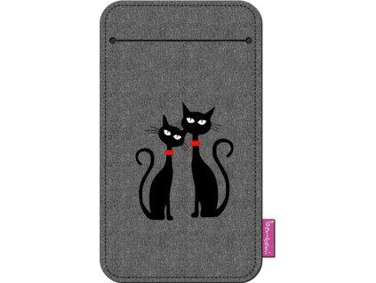 Štýlové puzdro na mobil - Dve mačky