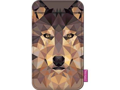 Štýlové puzdro na mobil - Wolf