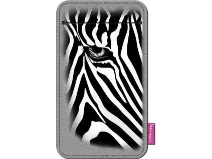 Štýlové puzdro na mobil - Zebra