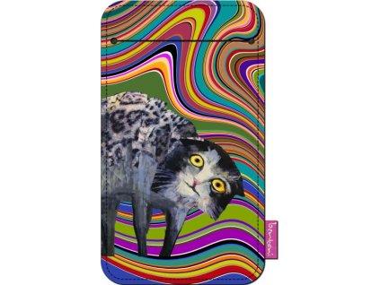 Štýlové puzdro na mobil - Mačka