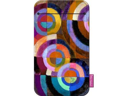 Štýlové puzdro na mobil - Kruhy