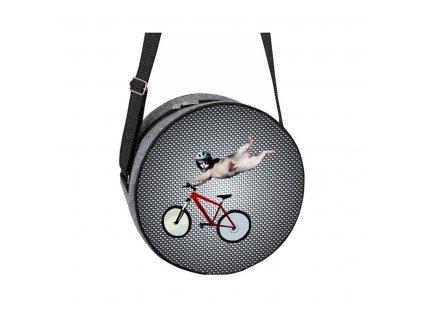 Guľatá kabelka Rondo - Free rider