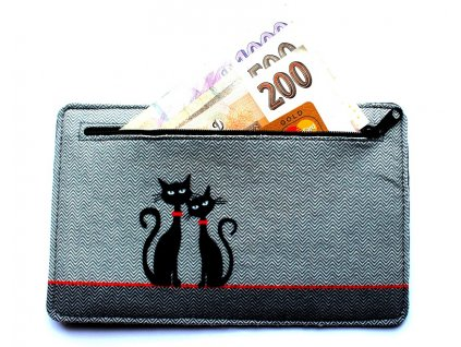 Eko peňaženka - Dve mačky