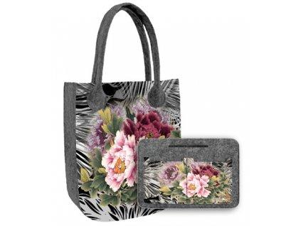 Zvýhodnená kombinácia kabelka city Ikebana + organizér