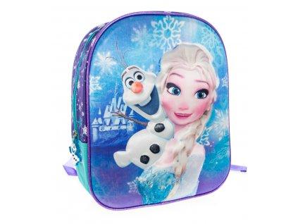 Dievčenský 3D batôžtek Frozen - Elsa a Olaf - modrý