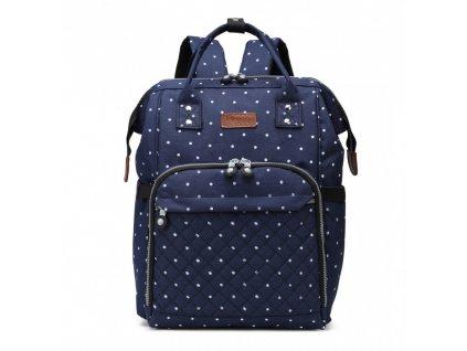 Prebalovací batoh na kočík - modrý bodkovaný