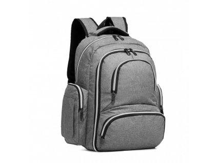Prebalovací batoh s doplnkami na kočík - sivý