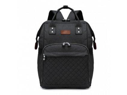 Prebalovací batoh na kočík - čierny