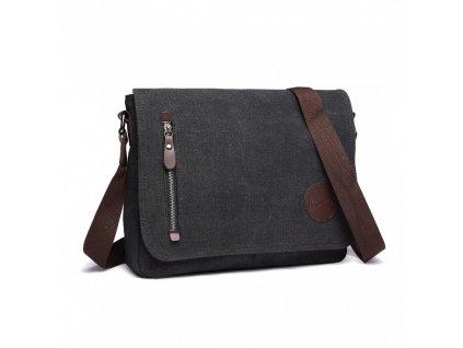 Pánska crossbody taška - čierna