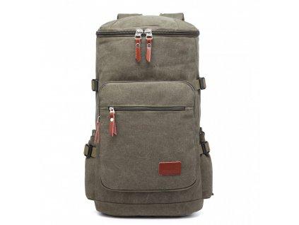Pánsky outdoorový vysoký batoh - zelený