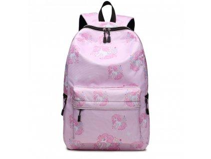 Školský batoh - Unicorn - jendnorožci - ružový