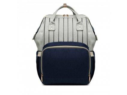 Cestovný batoh - modro-sivý Stripe