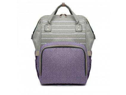 Cestovný batoh - fialovo-sivý Stripe