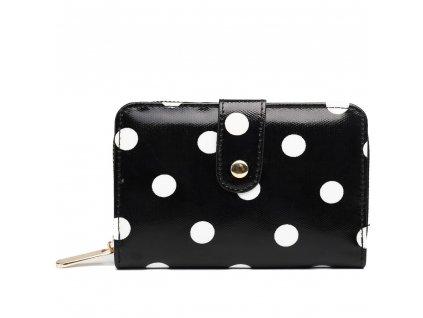 Dámska peňaženka - čierna bodkovaná - malá