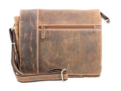 Kožená pánska taška messenger - veľká