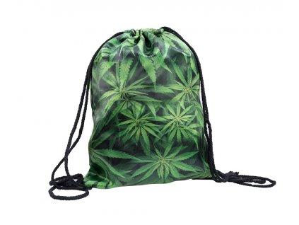 Vak na chrbát - Marihuana zelený list