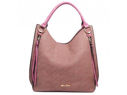 Elegantná kabelka na rameno - textúrovaná koža - fialová