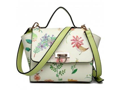 Dizajnová crossbody mini kabelka Spring - zelená