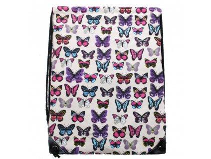 Vak na chrbát - motýliky - ružový
