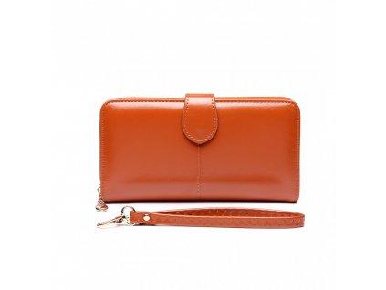 Dámska elegantná peňaženka - hnedá Brown