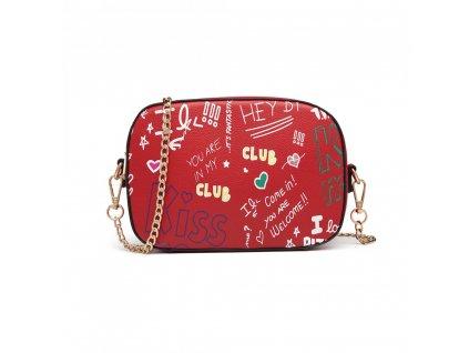 Crossbody kabelka - Love Graffiti - červená
