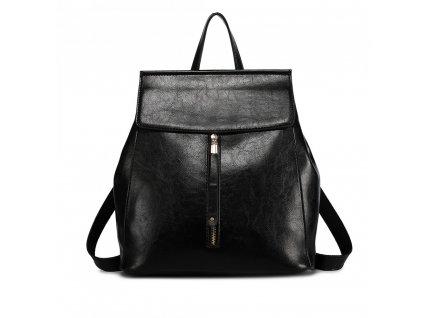 Dámsky elegantný batoh v štýle vintage - čierny