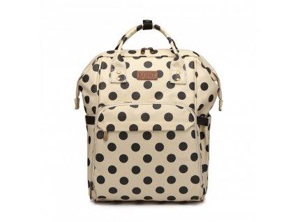Cestovný batoh - béžový bodkovaný