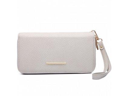 Dámska elegantná peňaženka - sivá Gray