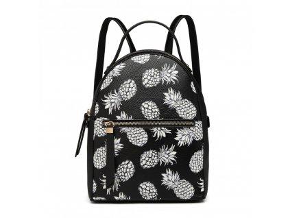 Dizajnový batoh Tropic Ananas - čierny