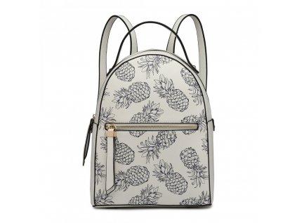 Dizajnový batoh Tropic Ananas - biely