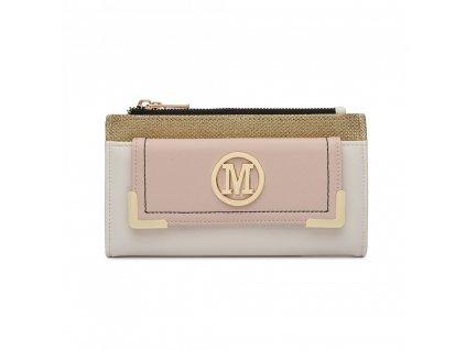 Luxusná dámska peňaženka Melinda - bielo-béžová