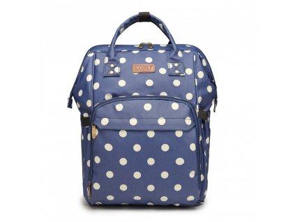 Cestovný batoh - modrý bodkovaný