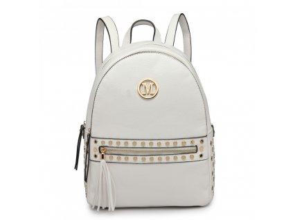 Štýlový dámsky batoh Melinda - biely
