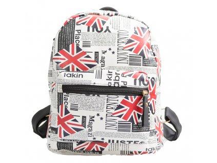 Dizajnový batoh s potlačou - Miss London