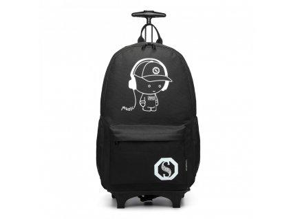 Variabilný batoh na kolieskach - čierny