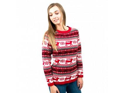 Dámsky vianočný sveter - červený