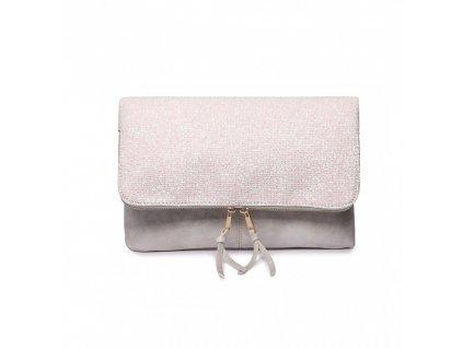 Trblietavá elegantná kabelka do ruky Dance - biela