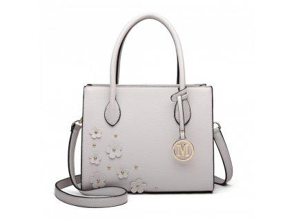 Elegantná kabelka Romantic - sivá