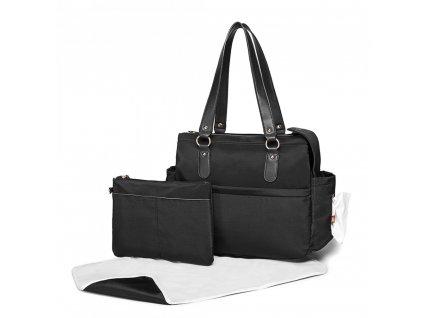Prebalovacia taška na kočík Amanda - set 3 kusov - čierna
